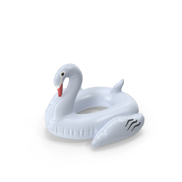 White Swan Pool Float PNG & PSD Images