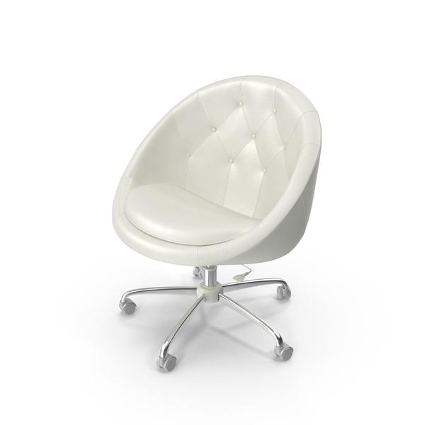 White Swivel Chair Object