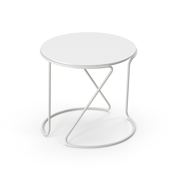 White Thonet Table PNG & PSD Images