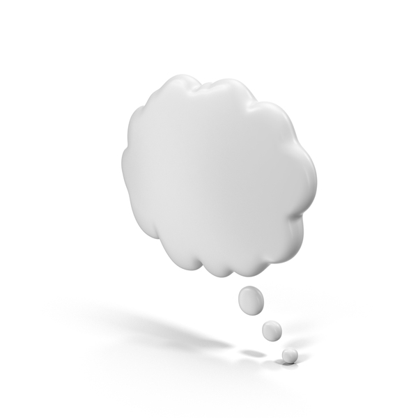 White Thought Bubble PNG & PSD Images