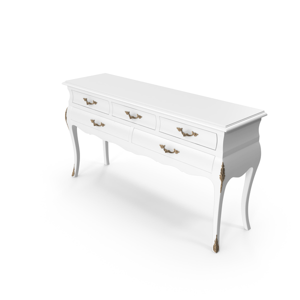 White Tonin Casa  Console Table PNG & PSD Images
