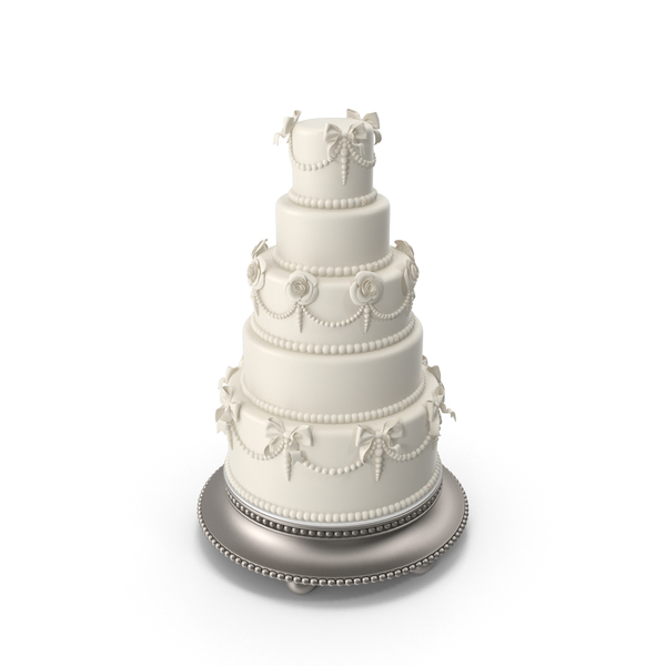 White Traditional Wedding Cake PNG & PSD Images