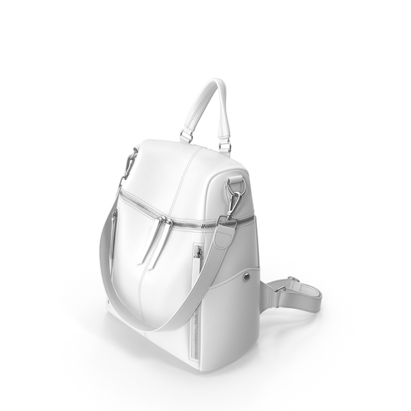 White UTO Women Backpack PNG & PSD Images