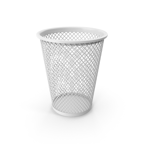 White Waste Basket PNG & PSD Images