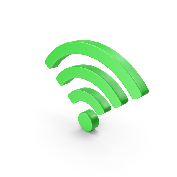 Wi-Fi Symbol Green PNG & PSD Images