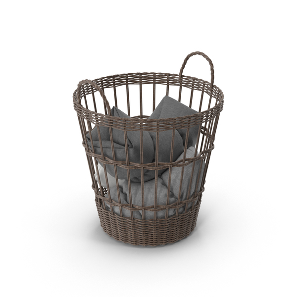 Wicker Basket Object