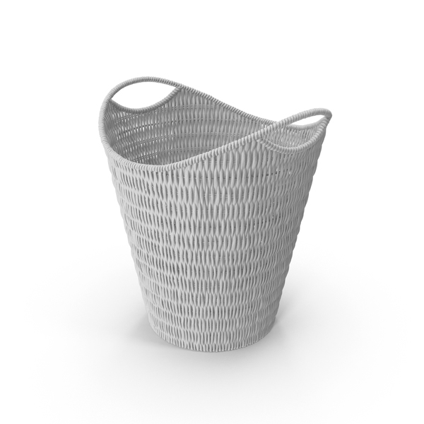 Wicker Paper Basket PNG & PSD Images