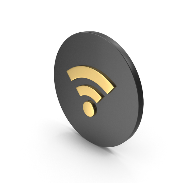 WiFi Icon Gold PNG & PSD Images