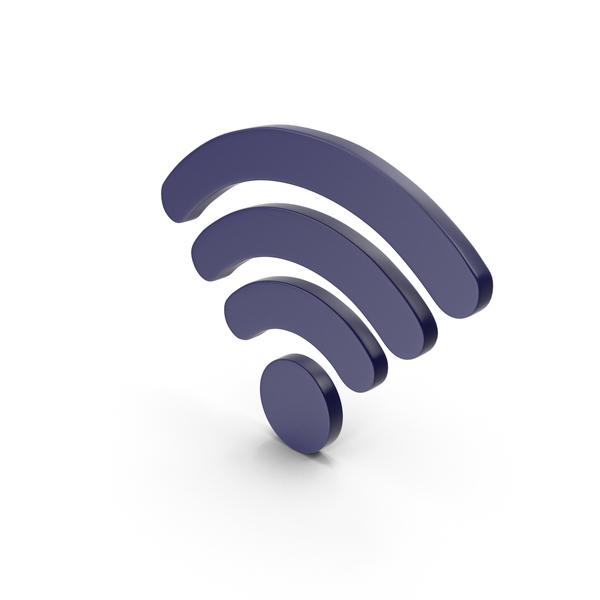 Wi Fi: WiFi Symbol Dark Blue PNG & PSD Images