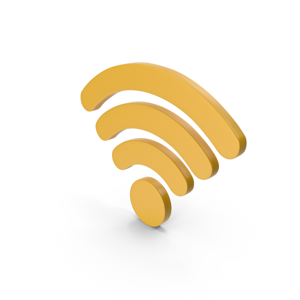 Wi Fi: WiFi Symbol Yellow PNG & PSD Images