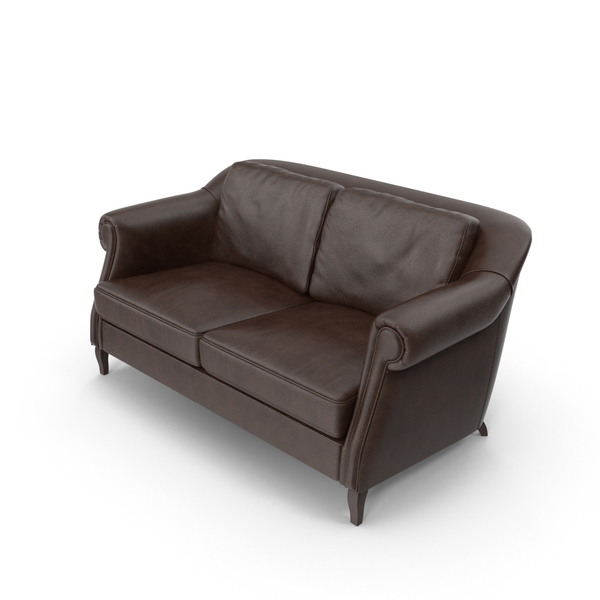 Wilson Brown Leather Sofa PNG & PSD Images