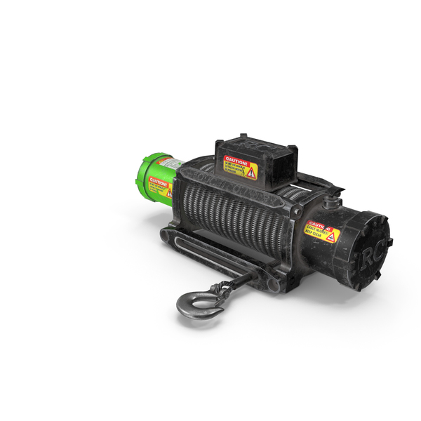 Winch Green Used PNG & PSD Images