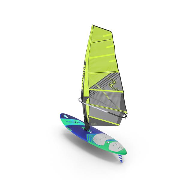 Windsurf Board And Sail PNG & PSD Images