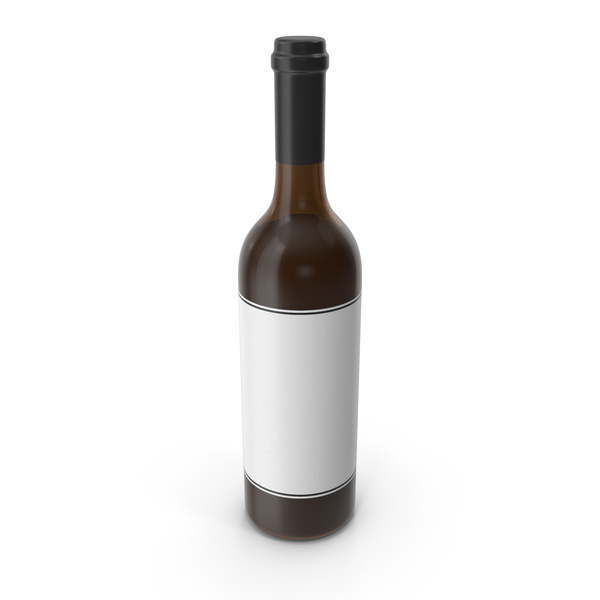 Wine Bottle Black White PNG & PSD Images