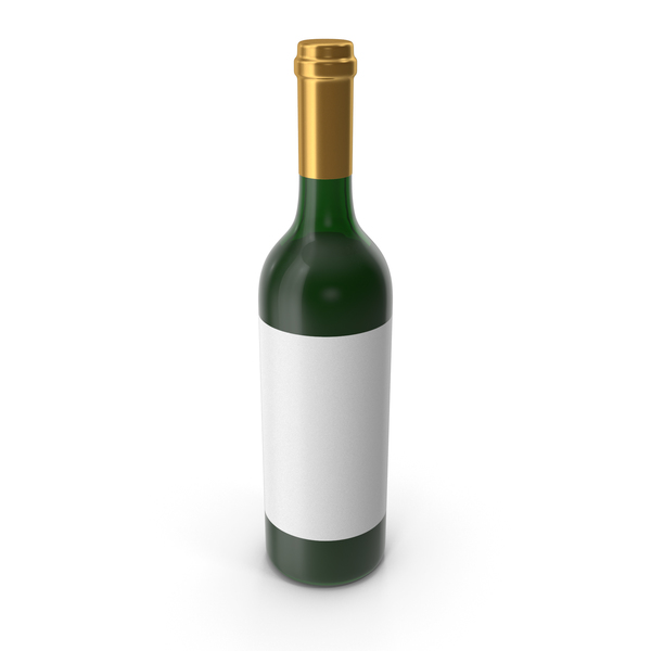 Wine Bottle Gold PNG & PSD Images