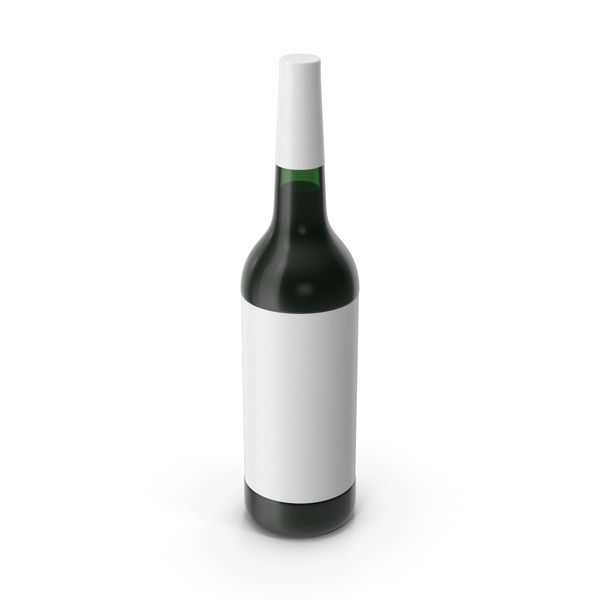 Wine Bottle White PNG & PSD Images
