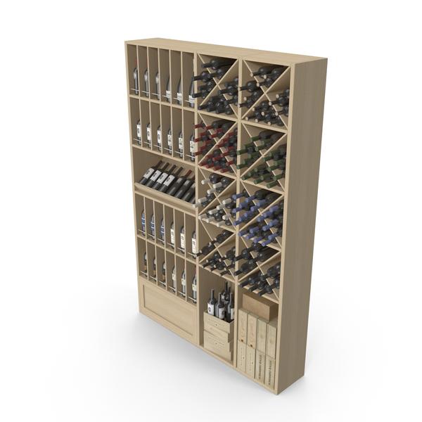Supermarket Shelving: Wine Store Shelves PNG & PSD Images