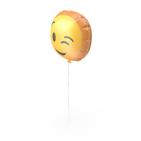 Wink Emoji Balloon PNG & PSD Images