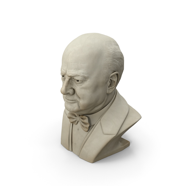 Winston Churchill Bust PNG & PSD Images