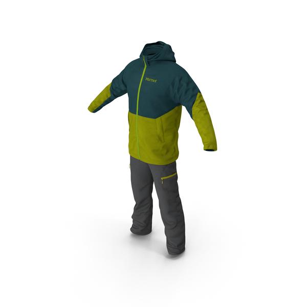 Down Coat: Winter Sport Suit PNG & PSD Images