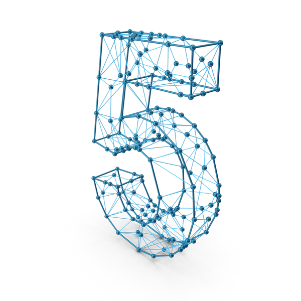 Wire alphabet number 5 PNG & PSD Images