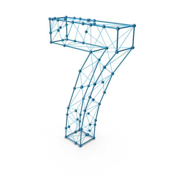 Wire Alphabet Number 7 PNG & PSD Images