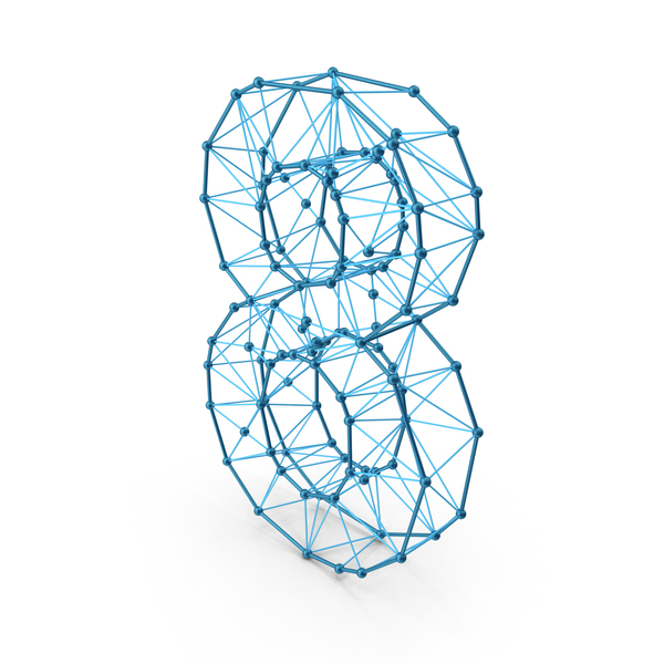 Wire alphabet number 8 PNG & PSD Images