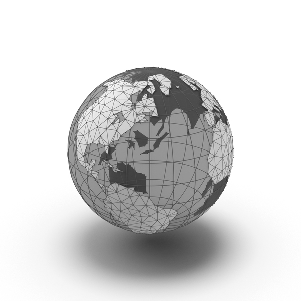 Wire Frame Globe with Transparent Water PNG & PSD Images