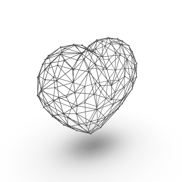 Wire Frame Heart PNG & PSD Images