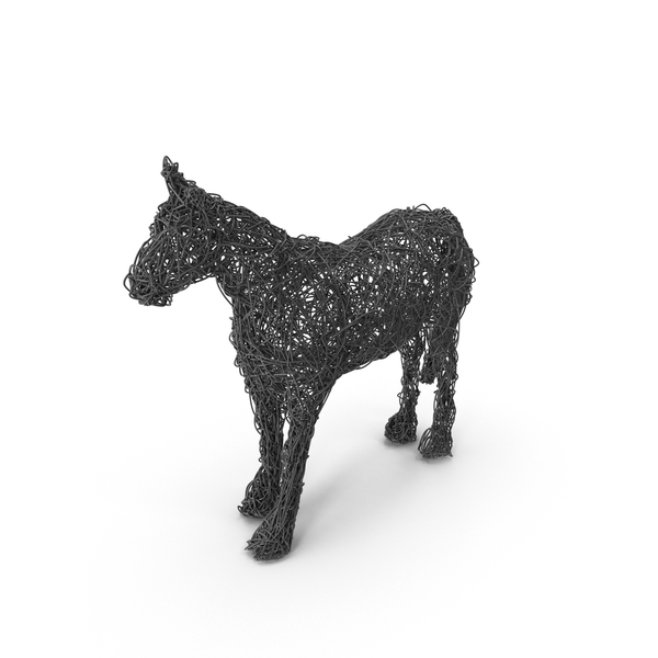 Abstract: Wire Horse Sculpture PNG & PSD Images