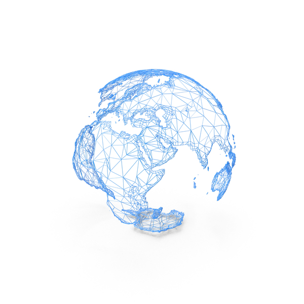 Wire Model of Earth PNG & PSD Images