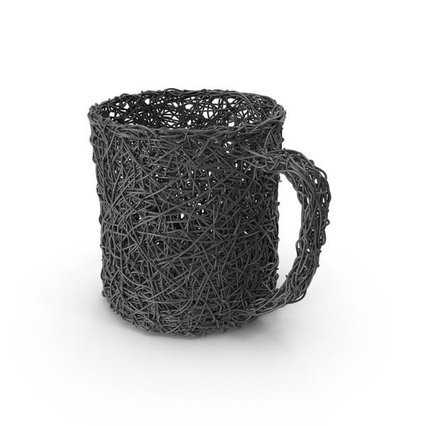 Wire Sculpture Mug PNG & PSD Images