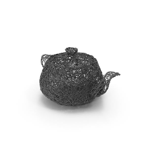 Wire Sculpture Teapot PNG & PSD Images
