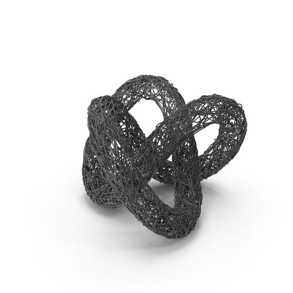 Wire Sculpture Torus Knot PNG & PSD Images