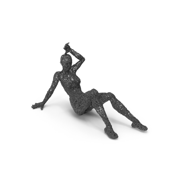 Wire Woman Sculpture PNG & PSD Images