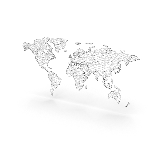 Wireframe Continents Object