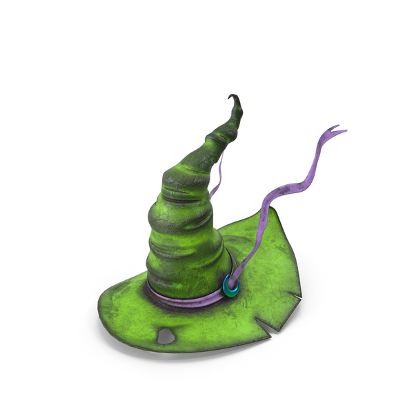 Witch Hat Green PNG & PSD Images