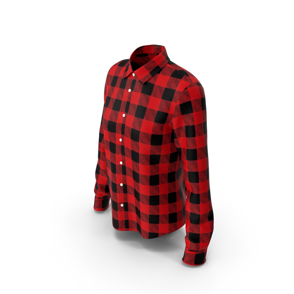 Woman Plaid Shirt PNG & PSD Images