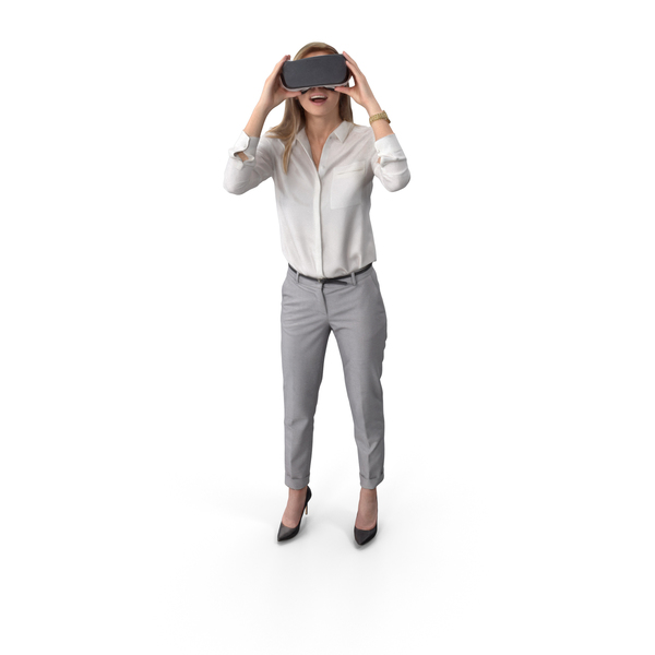 Woman Posed With VR PNG & PSD Images
