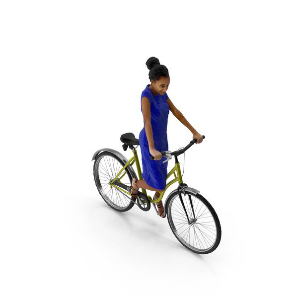 Woman Riding Bike Macire PNG & PSD Images