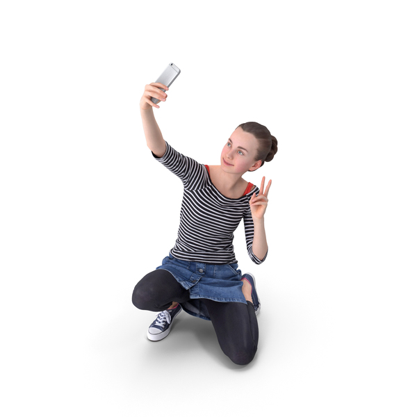 Woman Selfie Posed PNG & PSD Images