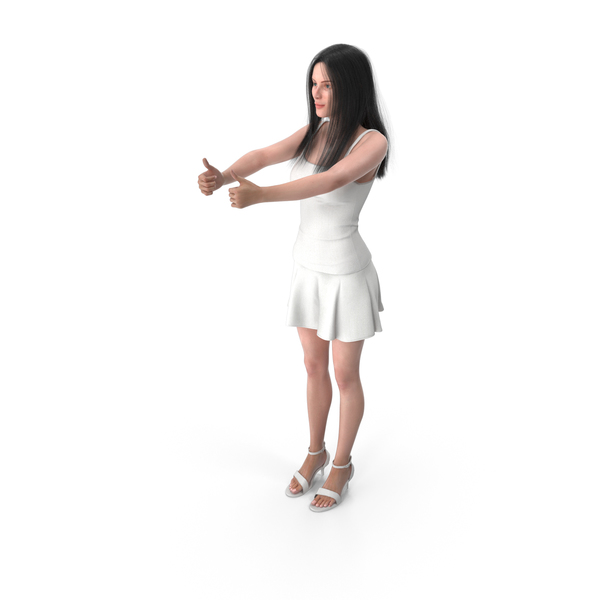 Woman Shows Double Good Gesture PNG & PSD Images