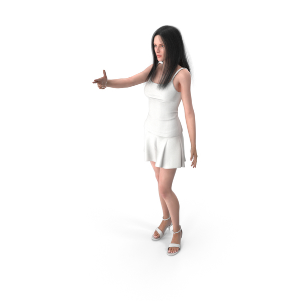 Woman Shows Finger Gun Gesture PNG & PSD Images