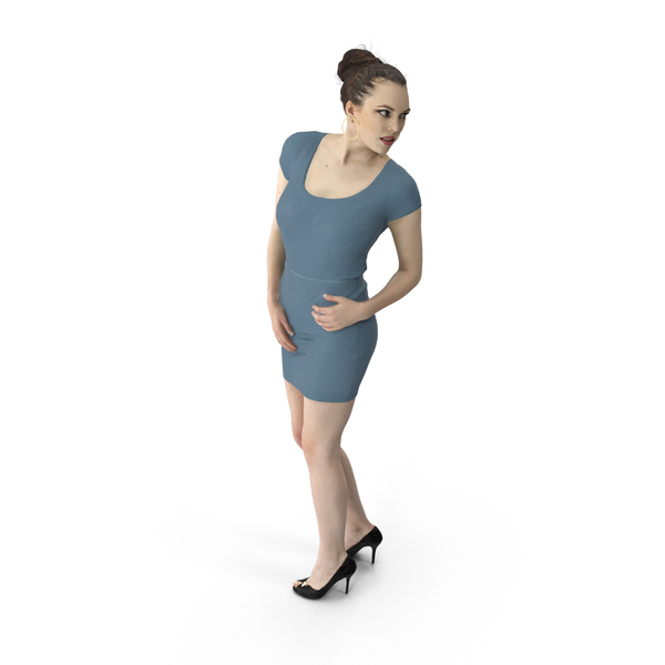 Woman Standing Looking Back PNG & PSD Images