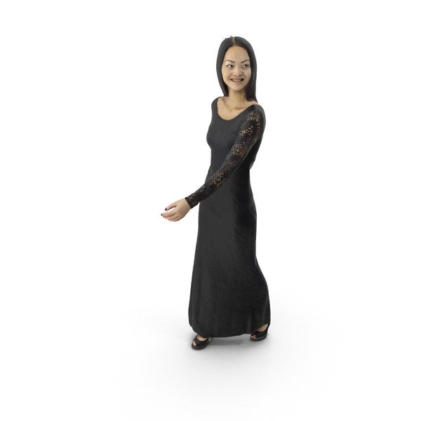 Woman Walking Dress PNG & PSD Images