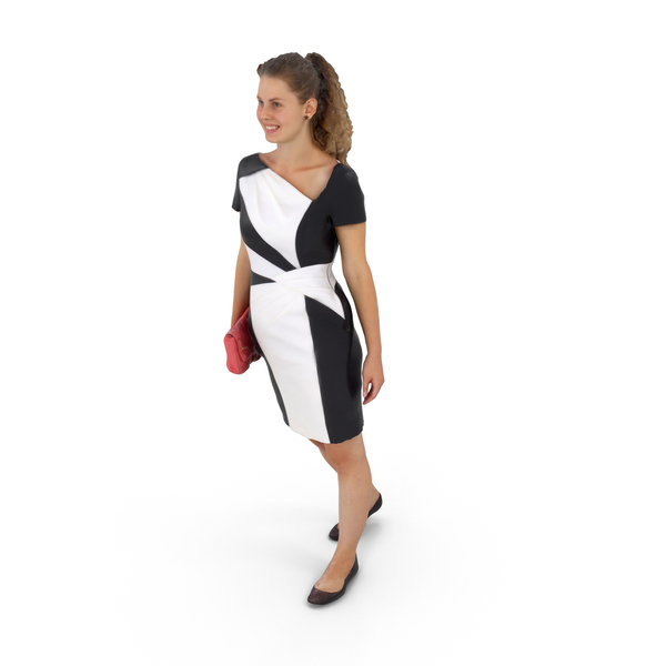Woman Walking in Dress PNG & PSD Images