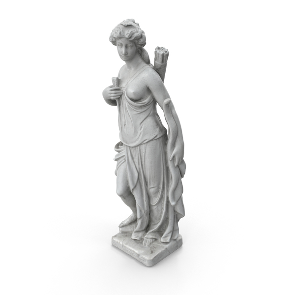 Statue: Woman with Bow Sculpture PNG & PSD Images