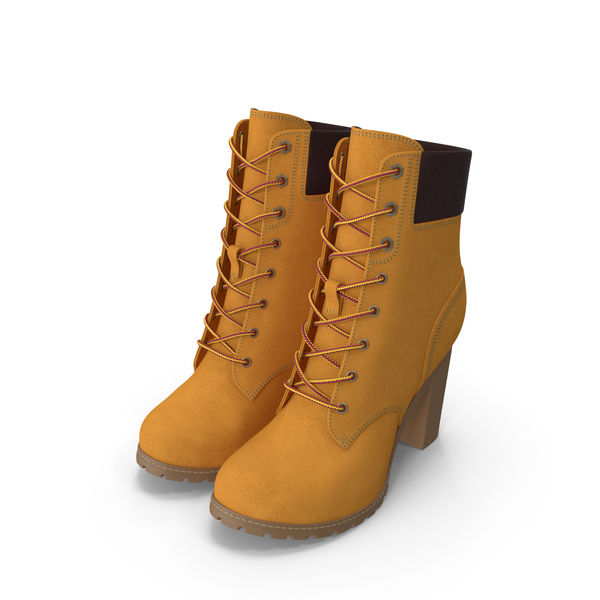 Women`s 6-Inch Yellow Boots PNG & PSD Images