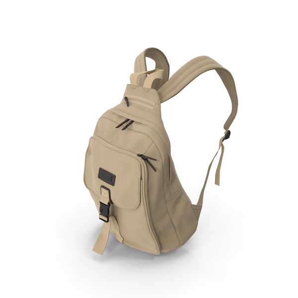 Women's Backpack Beige PNG & PSD Images
