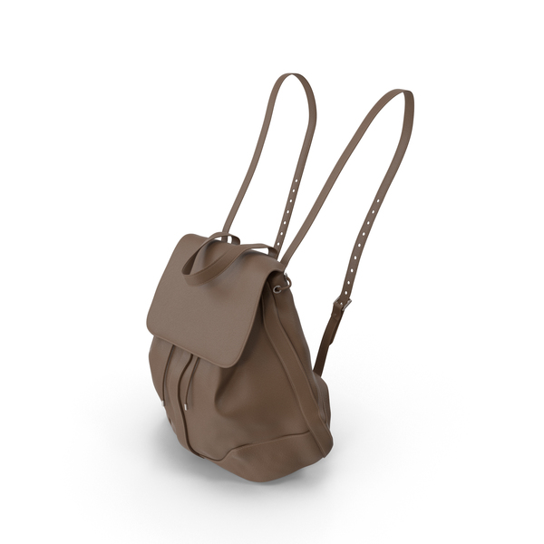 Women's Backpack Brown PNG & PSD Images